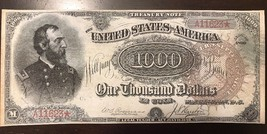 Reproduction $1,000 United States Treasury Note 1890 Civil War Meade Currency - $2.96