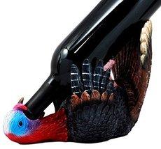 Ebros Festive Gobbler Wild Turkey Wine Holder Wine Bottle Caddy Figurine... - $26.67