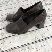 Nine West Brown Block Heel Loafer - Size 7 image 3