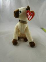 """Ty Beanie Baby Siam Siamese Cat 7"""" 2001 Stuffed Animal Toy - $9.95"""