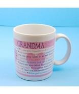 Hallmark Grandma Always Says Coffee Mug Glass Tea Cup Love Grandchildren... - $9.49