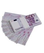 Euro Series €500 Full Print Prop Money Stack - $16.50