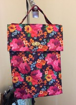 PICKET FENCE DILLARD'S FLORAL INSULATED CANVAS LUNCH TOTE NWT $30 - $13.99