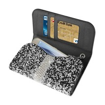 Diamond Bling Credit Card Black Wallet fits LG Aristo 2 - €17,40 EUR