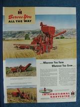 1949 International Harvester  Ad - McCormick 125-SP Harvester-Thresher C... - $8.06