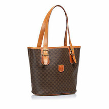 Pre-Loved Celine Brown PVC Plastic Macadam Shoulder Bag France - $312.29