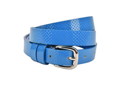 Armani Jeans Womens V5119 Belt Leather 80 Royal Blue Size 92 CM - $74.71