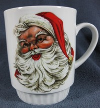 GEORGE Bareuther Waldsassen Santa Claus Coffee Mug Bavaria Germany Porce... - $17.97