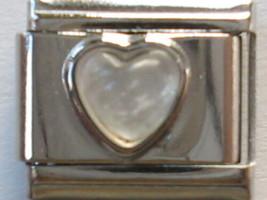 Moonstone Synthetic Heart Italian Charm + Free gift fits 9mm Classic Bracelets - $5.79