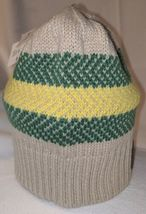 John Deere LP67786 Acrylic Knitted Tan Green And Yellow Beanie image 3