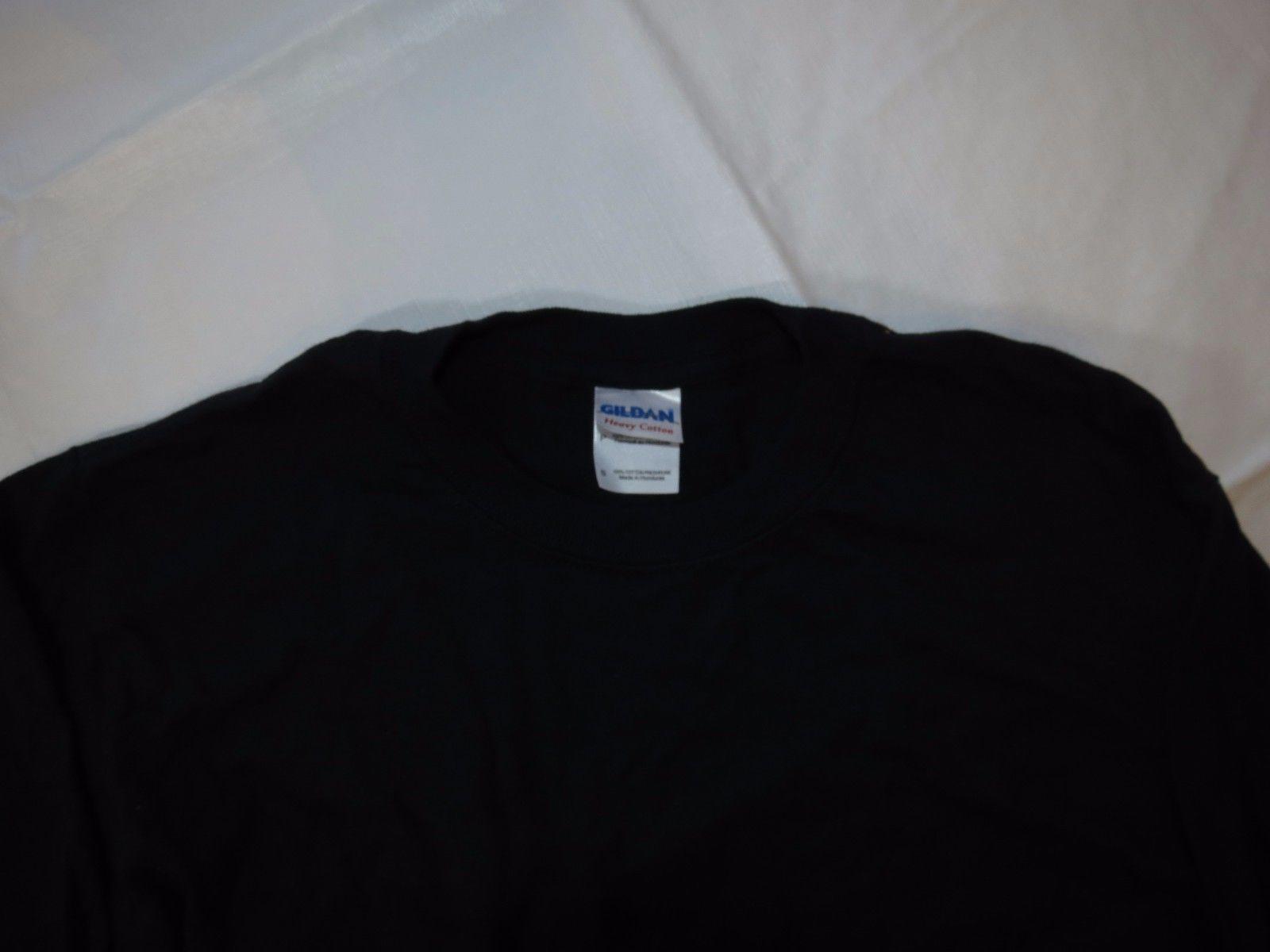 Gildan Heavy Cotton adult XL xlarge mens long sleeve t shirt black casual NOS