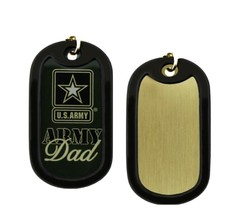 Challenge Coin Proud US Army Dad Dog Tag - $8.84