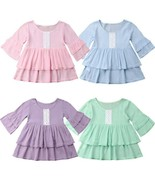 Retro Toddler Kids Baby Girls Children Lace Party Princess Casual Dress ... - $11.18+