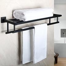 Alise GZ8000-B Bathroom Lavatory Towel Rack Towel Shelf with Two Towel B... - $69.57