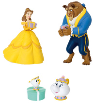 Japan Exclusive Beauty and the Beast Ornament Set, Disney Christmas Pull... - $37.99