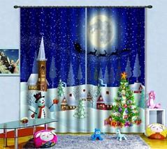 3D Moon Xmas 0550 Blockout Photo Curtain Print Curtains Drapes Fabric Window UK - $145.49+