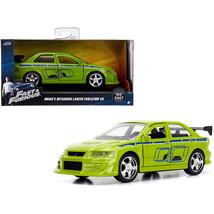 Brians Mitsubishi Lancer Evolution VII Green Fast & Furious Movie 1/32 D... - $18.53