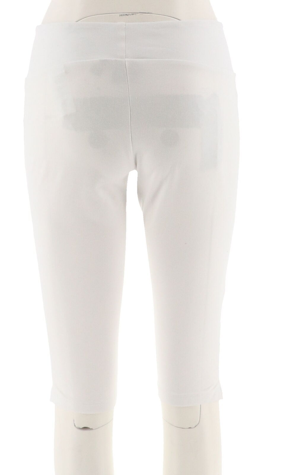 Women with Control Petite Tummy Control Pedal Pushers White PM NEW A288794