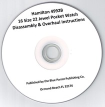 Hamilton 4992B 16 Size 22 Jewel Pocket Watch Repair and Overhaul How To CD - $12.99