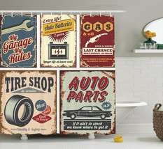 Memory Home Vintage Car Metal Signs Automobile Advertising Garage Polyester Fabr - $37.14