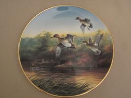 GREEN-WINGS AT MARSH collector plate LYNN KAATZ Ducks Unlimited WATERFOW... - $29.99