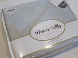Peacock Alley 4P Queen Cotton Sateen 310TC Sheet Set Grey - $126.05