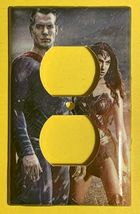 Superman & Wonder Woman Light Switch Duplex Outlet wall Cover Plate Home decor image 10