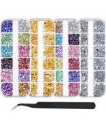 Bememo 5900 Pieces (4 Boxes) Nail Art Rhinestones Kit Nail Rhinestones W... - $16.82