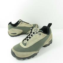 Nike Vintage ACG Shoes Womens 6 Tan Leather Green Mesh 108022-031 Hiking Trail - $31.49