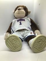 "Build A Bear Monkey Chimp Stuffed Plush With WNBA Outfit/shoes 19"" Tall - $18.07"