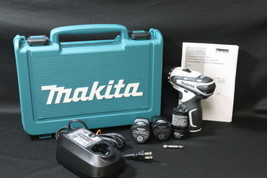 MAKITA 3/8 IN  DRILL 12V (FD02) WITH CHARGER & 3 12V BATTERIES + CARRYIN... - $144.93