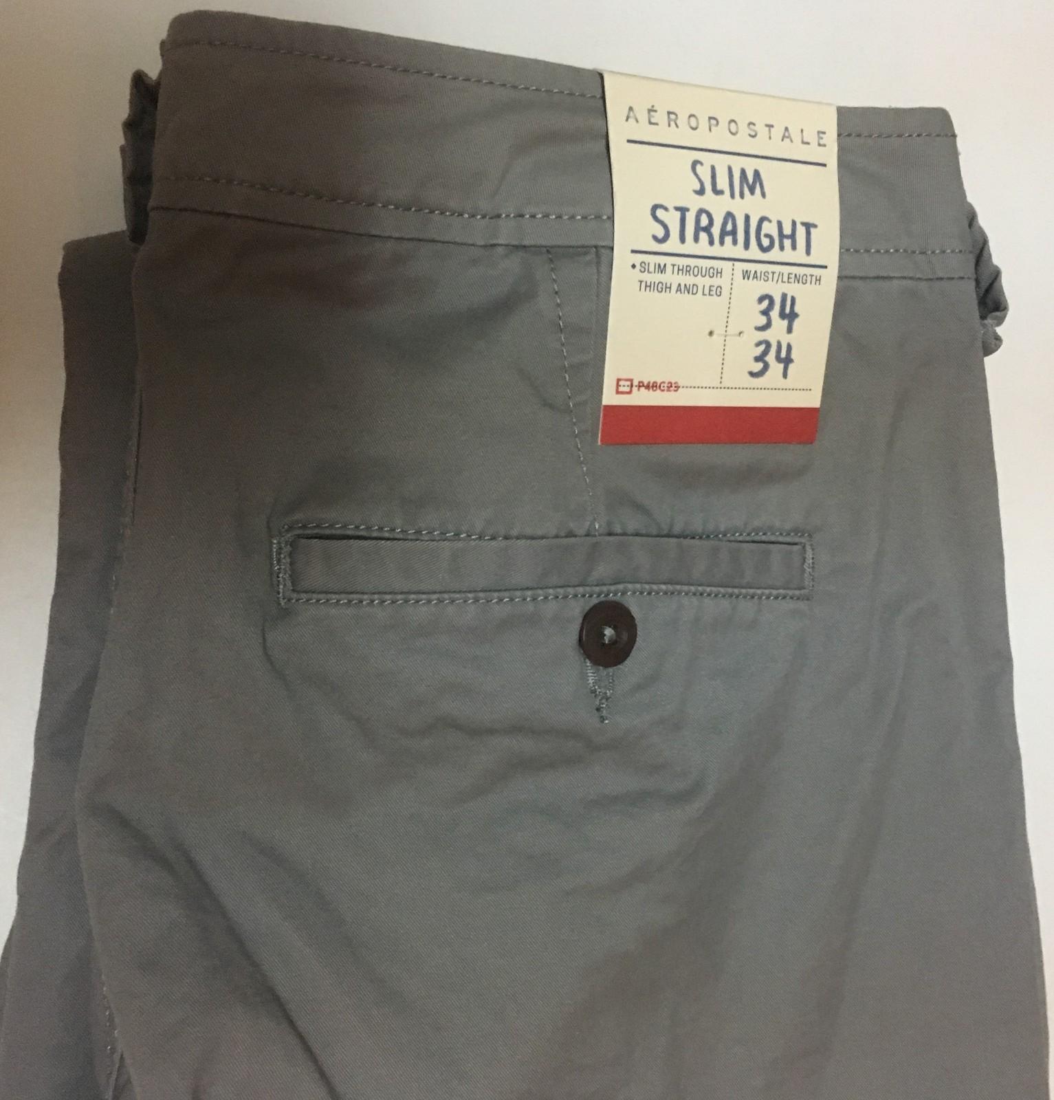 Aeropostale Men's Jeans Slim Gray SZ 34/34