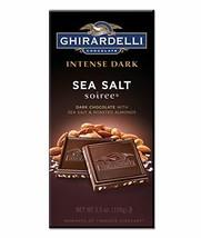 Ghirardelli Intense Dark Chocolate Sea Salt Soiree Bar, 3.5 oz, Pack of 6 - $30.30