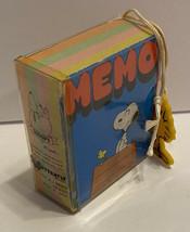 Vtg Snoopy Mini Memo Book Woodstock Charm Peanuts Multi Colored Butterfly Japan - $18.69