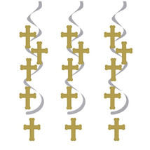 Dizzy Danglers Gold/Silver Crosses/Case of 30 - £25.25 GBP