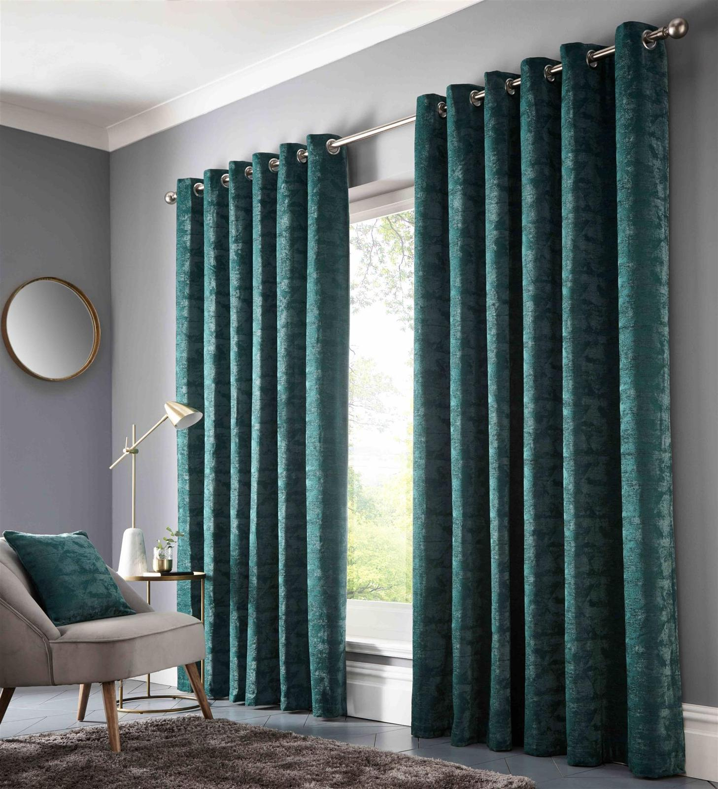 STUDIO G EMERALD GREEN RING TOP CURTAINS – 9 SIZES - $85.64 - $226.27