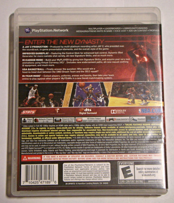 Playstation 3 - NBA 2K 13 (Complete with Manual)