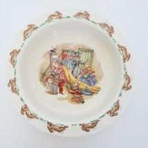 Vintage Bunnykins Royal Doulton Child Porridge Bowl Dress Up Costume Family - $9.89