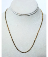 Vintage Danecraft Dia Cut Gold Over Sterling Silver Rope Chain Necklace ... - $34.99