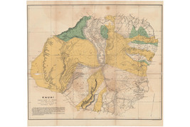Island of Kauai, Hawaii; Antique Map by Newton, 1901 - $26.72+