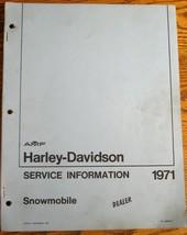 1971 Harley-Davidson Snowmobile Service Information Manual, Original VG - $28.61