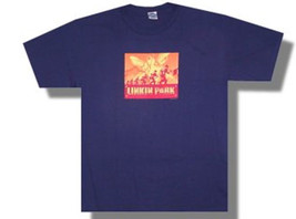 Linkin Park-Soldier Box-Navy Blue T-shirt - $12.99