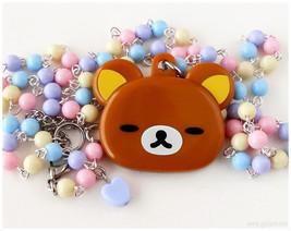 Fairy Kei, Pastel Rilakkuma Mirror Necklace - Street Fashion, Kawaii Jew... - $32.00