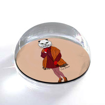"""Fashion Cat Human Illustration Hipster Art 2"""" Crystal Dome Magnet or Pap... - $15.99"""