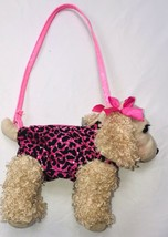 Poochie and Co Cocker Spaniel with Pink Black Leopard Purse bag plush (3... - $15.00