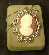 Cameo Necklace and/or Pin AB 123 Exquisite Vintage image 4