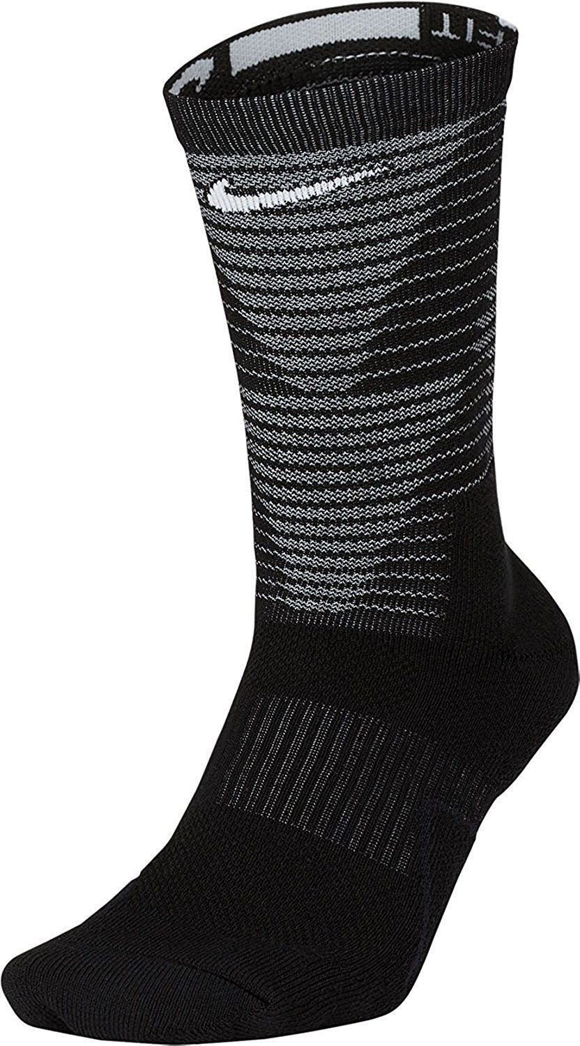 Nike MEN'S  Dri-Fit Elite Disrupter 1.5 Cushioned Crew Socks-Black  NWT