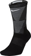 Nike MEN'S  Dri-Fit Elite Disrupter 1.5 Cushioned Crew Socks-Black  NWT - $11.99