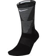 Nike MEN'S  Dri-Fit Elite Disrupter 1.5 Cushioned Crew Socks-Black  NWT - $11.99