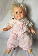 "Vintage Hasbro REAL BABY Doll J Turner 1984 Rooted Hair Vinyl Cloth Body 18"" H23 - $34.95"